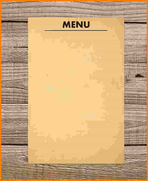 empty menu templates 10 blank menu template cashier resume