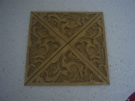 the conifer laser cut wedding invitation