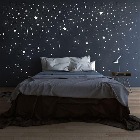 schlafzimmer ideen sterne pin deinewandkunst de auf wandtattoo punkte sterne