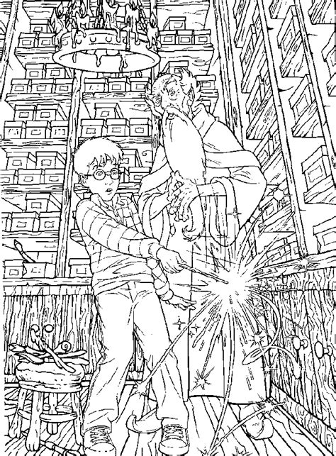 harry potter coloring book colored harry potter coloring pages coloringpages1001