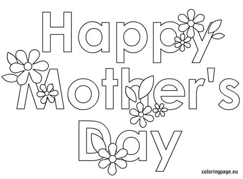 happy mothers day coloring page happy mothers day coloring pages 2018 free printable