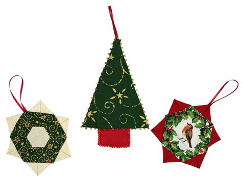 christmas tree decorations make patchwork