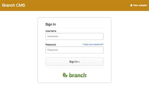 login page design new design for the admin login page branchcms