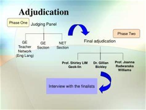 ppt the adjudication process powerpoint presentation