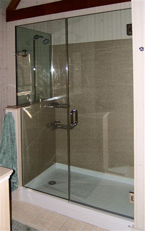 three panel shower door three panel and up frameless shower doors