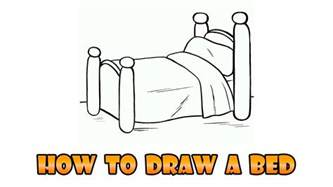 how to draw a bed how to draw bed easy step by step drawing lesson for