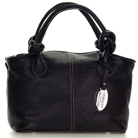 Giordano Original Leather giordano italian made black leather small handbag purse