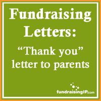 Donation Letter To Parents Thank You For Donation Letter To Parents