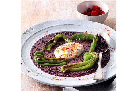 cucinare riso nero riso nero burrata e friggitelli la cucina italiana