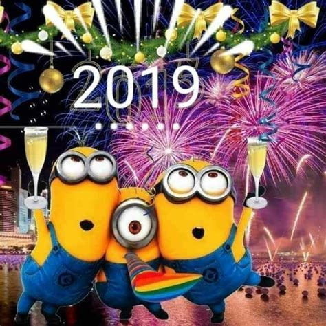 lets celebrate minions quotes   year happy  year  happy  year minions