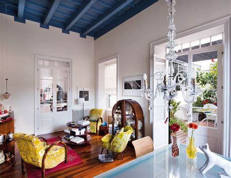 eclectic interiors mediterranean look with art deco vintage influences spain