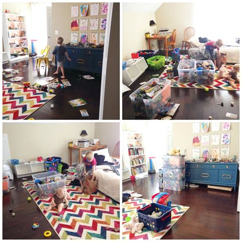 before after from ceiling space to playroom from the 20 rule how we decluttered our playroom simplified our erin spain
