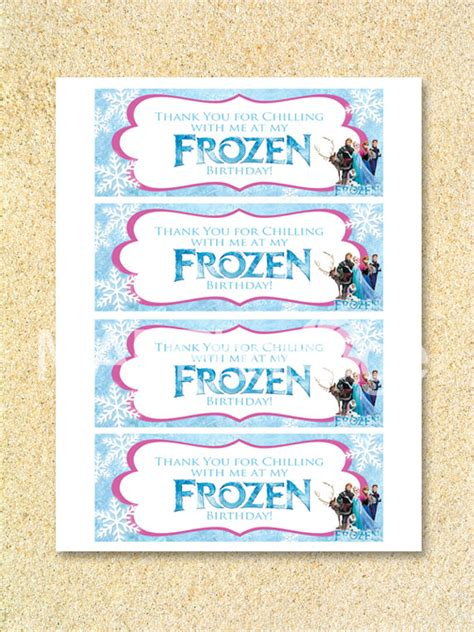 printable olaf bag toppers frozen favor bag toppers instant download disney frozen treat