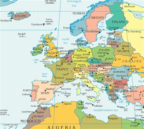 europe map countries maps of europe countries northern europe region maps details pictures