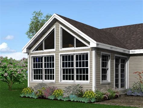 Add Gable To Roof Post And Beam Sunroom Addition Studio Design Gallery