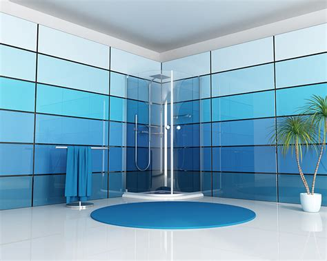 Blaues Badezimmer by Custom Back Painted Glass Made In Usa 186 Element Designs