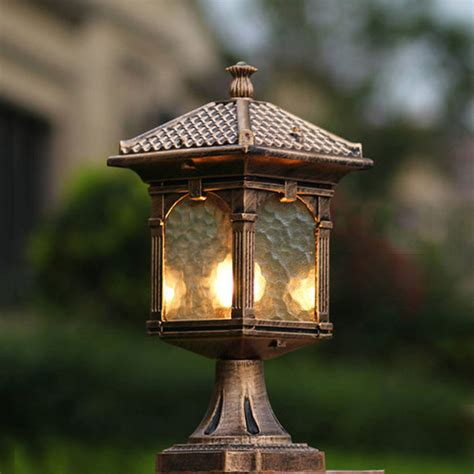 Patio Column Lights Outdoor Column Light Fixtures Tp Gorgeous Black Finished Outdoor Post Column Light Www Hempzen Info