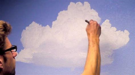 paint clouds   room mural joe youtube