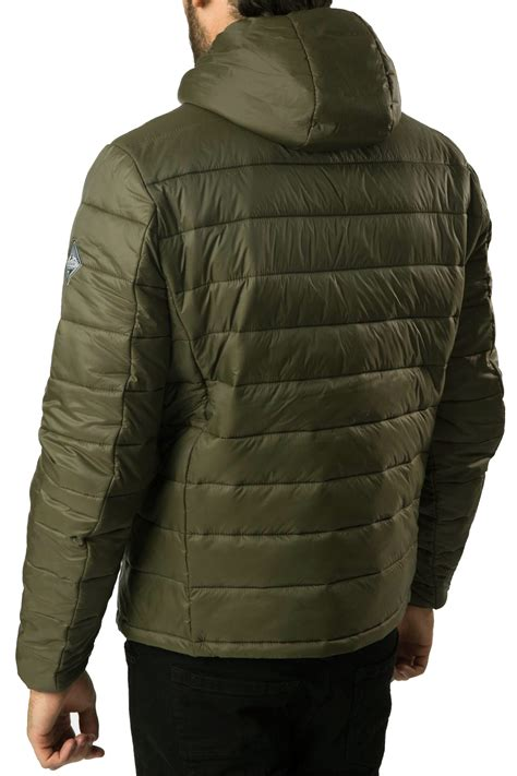 Hooded Padded Lightweight Jacket threadbare mens padded jacket new mongrel lightweight