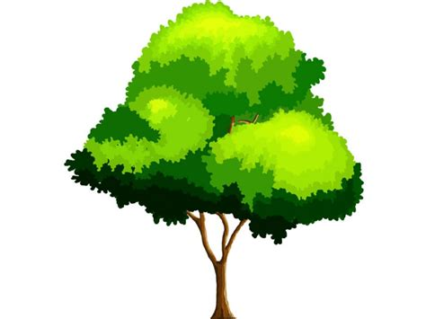 wallpaper cartoon tree 2d cartoon trees