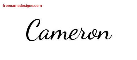 cameron tattoo designs lively script name designs cameron free