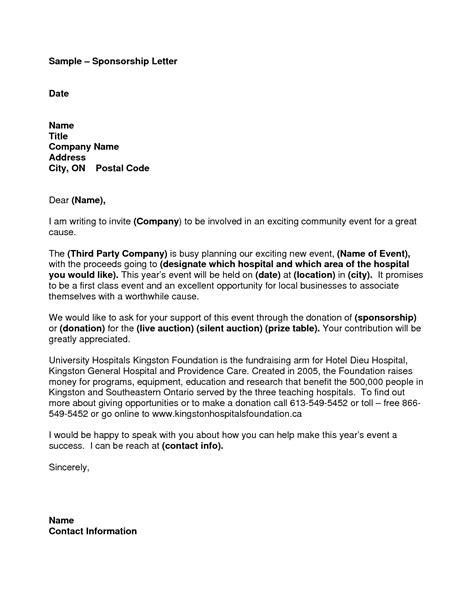 best photos of sle sponsorship letter templates