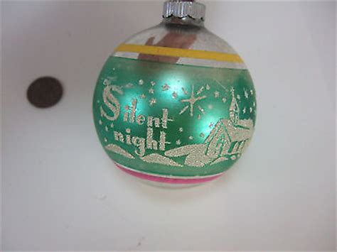 vintage mercury glass shiny brite silent night stencil