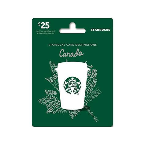 Starbucks Canada Gift Card - starbucks canada gift card 25 london drugs