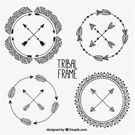 cornici tribali disegnata a mano rotonda cornici tribali scaricare