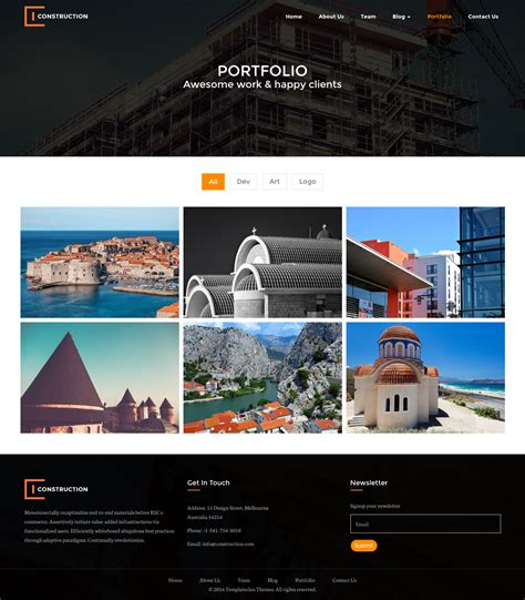 themes bootstrap construction builders construction html bootstrap template by
