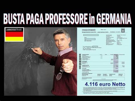 quanto costa un giardiniere all ora busta paga di un professore in germania 4116 netti