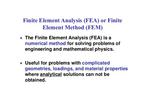 Finite Element Structural Analysis introduction to finite element analysis