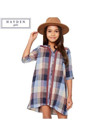 Zaza Set 6w hayden la plum mix plaid shirt dress