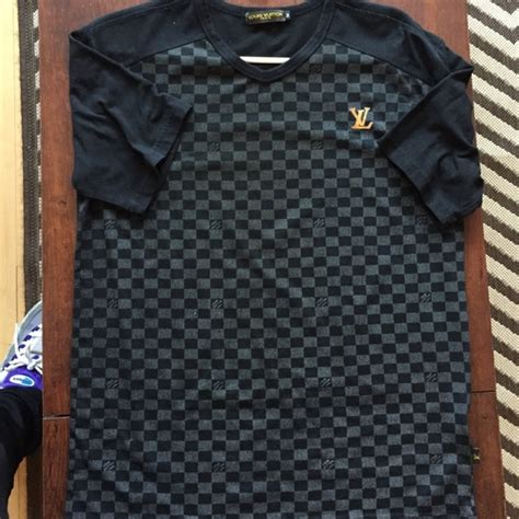 louis vuitton pattern t shirt 75 off louis vuitton other faux louis vuitton men s t