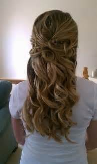 Curly Half Up Half Hairstyles Prom Hairstyles Curly Half Up
