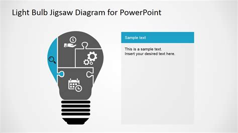 Light Bulb Jigsaw Shapes For Powerpoint Slidemodel Powerpoint Jigsaw Template 2