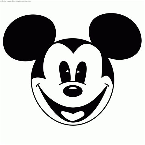 coloring pages of mickey mouse face mickey mouse face coloring pages
