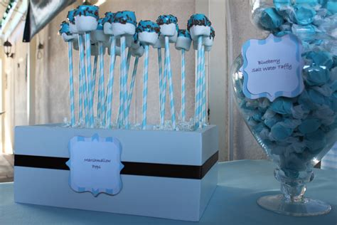 Blue Candies For Baby Shower by Baby Shower Buffet Sweet Buffet Company