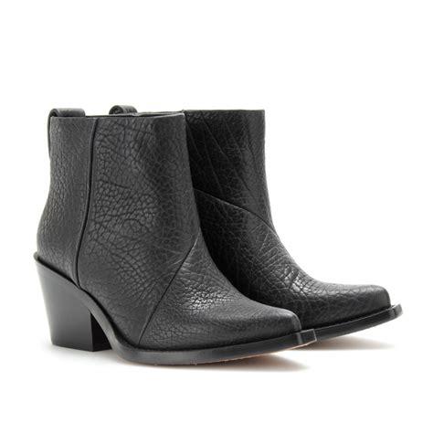 acne studios black loma grain boot in black lyst