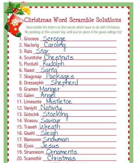 printable christmas scramble games holiday word scramble pictures to pin on pinterest pinsdaddy