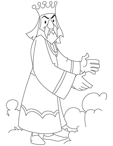 king coloring page coloring home