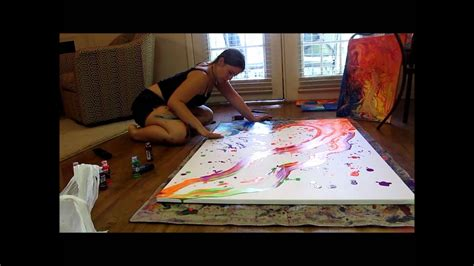 Painting G With A Twist by Psychedelic Time Lapse Painting