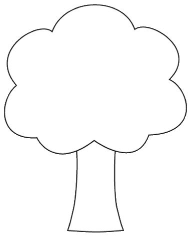 Tree Shapes Coloring Page Tree Shape Clipart To Color 12cm Flickr Photo Sharing by Tree Shapes Coloring Page