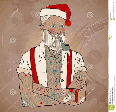 hipster santa claus stock vector image 46683060