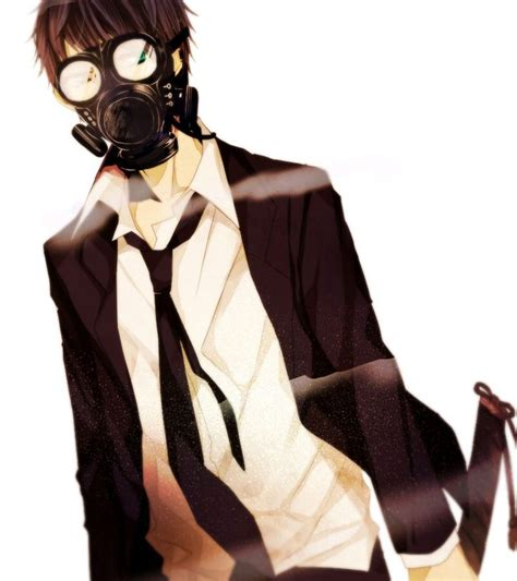 anime cool boy with tuxedo 1000 images about gas mask