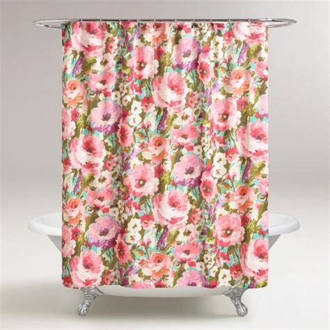 world market bird shower curtain watercolor floral rosamunde shower curtain world market