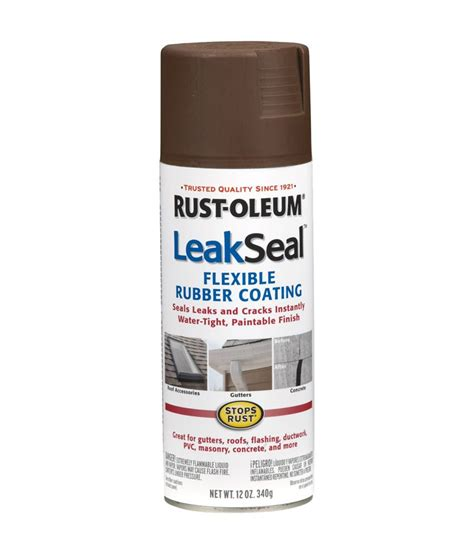 how to seal spray paint buy rust oleum leak seal rubber sealant spray
