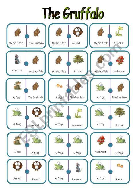 dominoes on the gruffalo esl worksheet by jamiejules