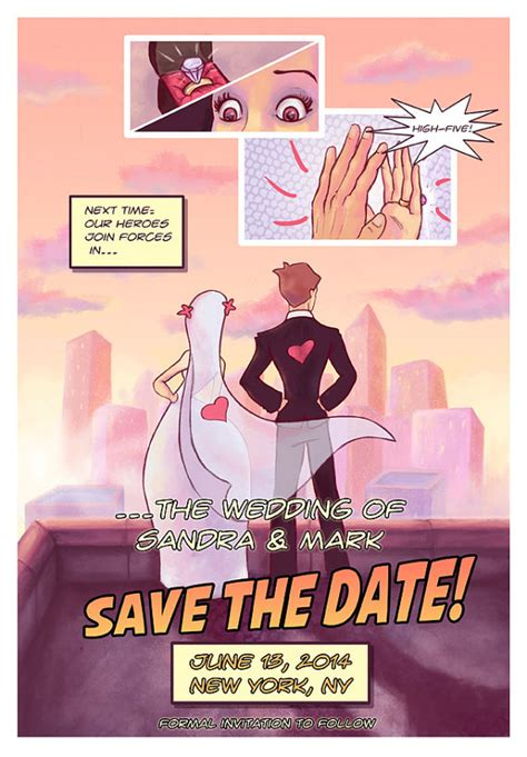 save the date a novel books comic book save the date geeky wedding invite digital