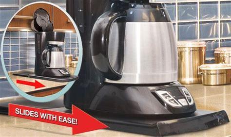 handy caddy sliding kitchen under cabinet appliance moving the sliding kitchen caddy slides under your coffeemaker